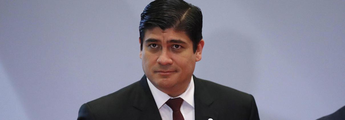 Il presidente della Costa Rica Carlos Alvarado