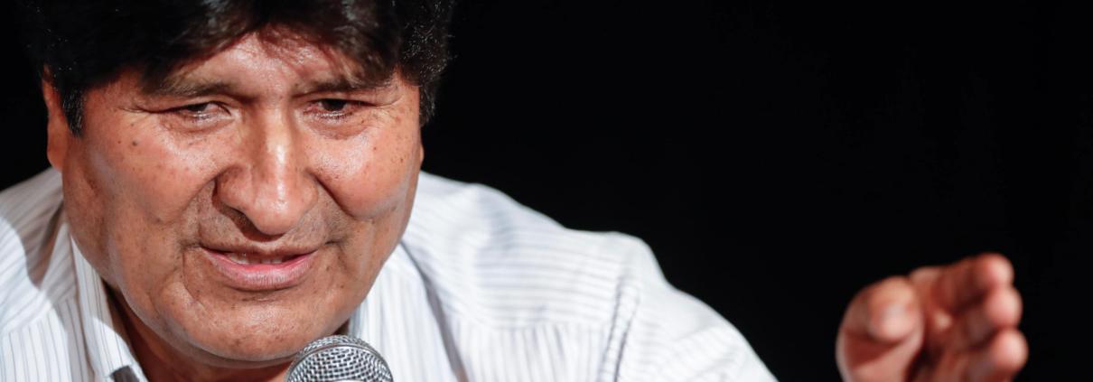 L'ex presidente boliviano Evo Morales