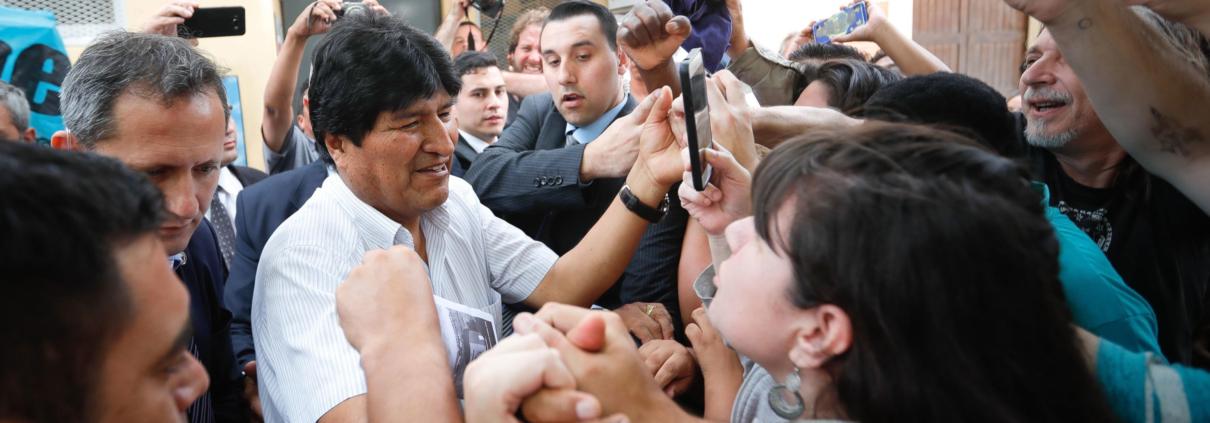 L'ex presidente della Bolivia Evo Morales