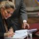 La presidente ad interim della Bolivia Jeanine Añez