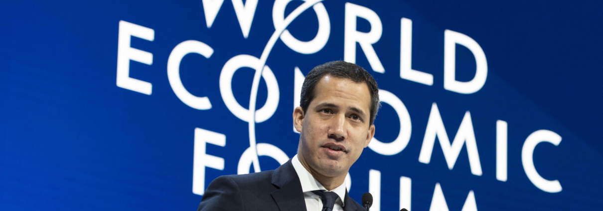 Il leader venezuelano Juan Guaidó al World Economic Forum