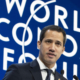 Il leader venezuelano Juan Guaidó al World Economic Forum