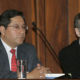 Il candidato alla presidenza della Bolivia per il Mas, Luis Arce