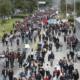 Manifestazione contro il governo Duque a Bogotà