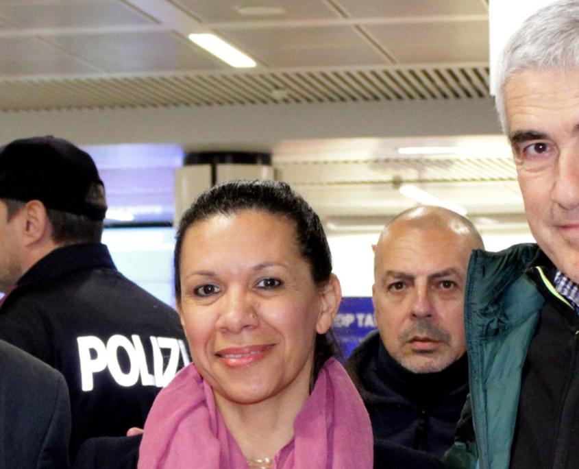 Mariela Magallanes e Americo De Grazia insieme a Pierferdinando Casini
