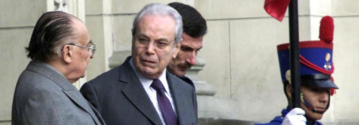 L'ex segretario generale dell'Onu Javier Perez de Cuellar
